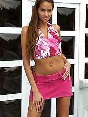 Hot Euro Babe Silive Delux Posing and Stripping Outdoors - 8/17/2012