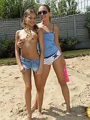 Volley Ball Lesbians Avril Sun and Blue Angel - 6/22/2012